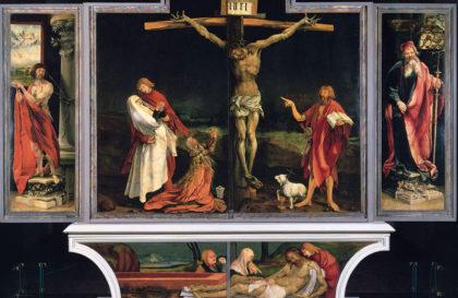 Распятие Христа. Изенгеймский алтарь. Маттиас Грюневальд, нач. XVI в.