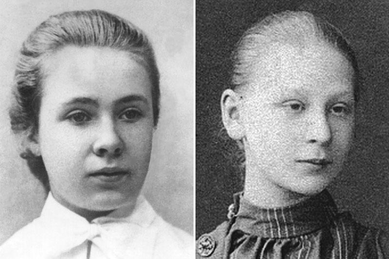 Княжна Кира Ивановна Оболенская и Екатерина Андреевна Арская