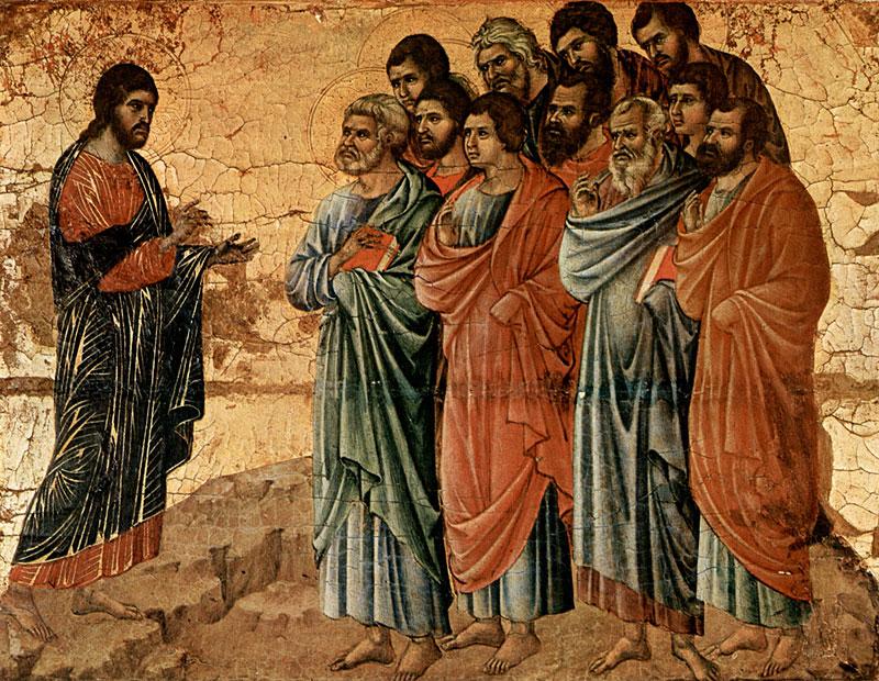 Явление Христа на горе Галилейской. Дуччо ди Буонинсенья. 1308 г.
