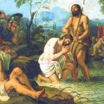Крещение Спасителя. Конец 1810 – начало 1811 г. Фрагмент росписи алтаря Казанского собора