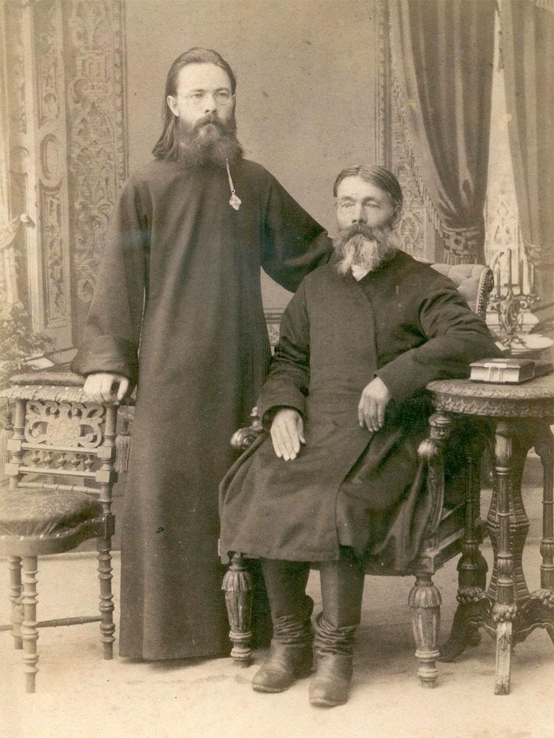 Протоиерей Константин Аггеев со своим отцом