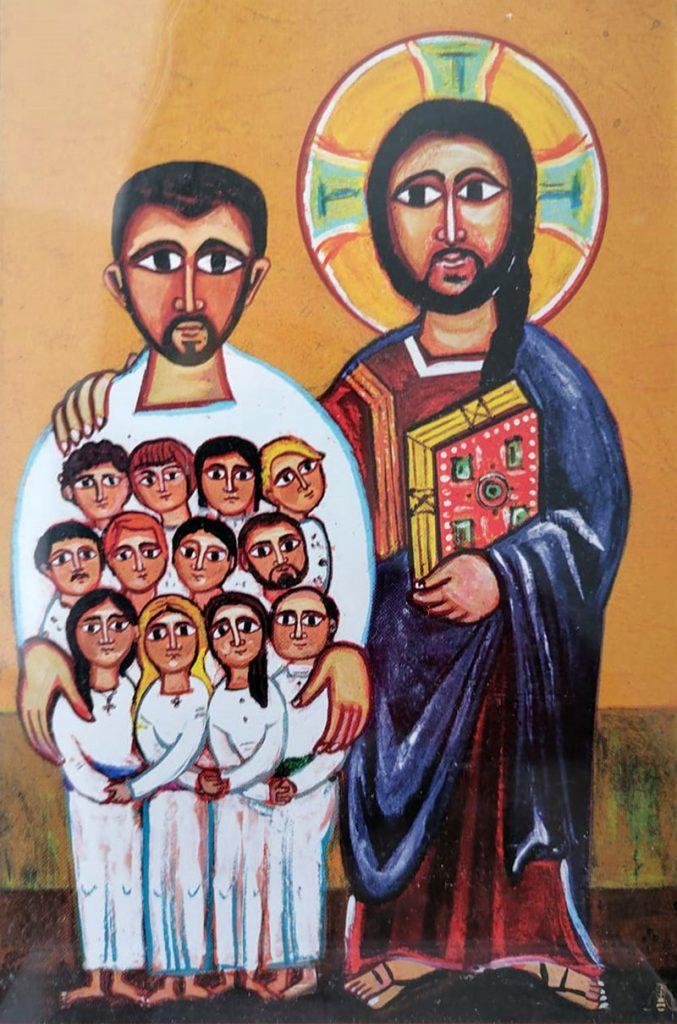 Картина, нарисованная оглашаемыми в подарок катехизаторам