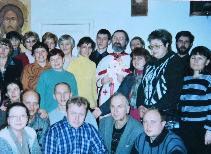 Братчики с духовным попечителем братства священником Георгием Кочетковым.