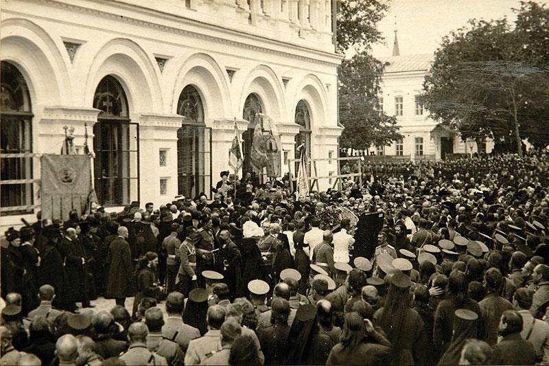 Во время погребения П.А. Столыпина у стен Киево-Печерской лавры